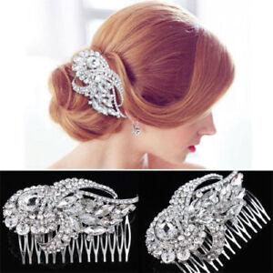 Vintage Bridal Rhinestone Hair Comb Wedding Diamante Headpiece Hair Accessories