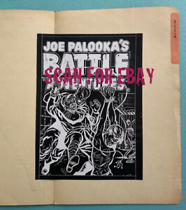 HARVEY ARCHIVES: unpublished cover proof 1953 Joe Palooka's Battle Adventures 75
