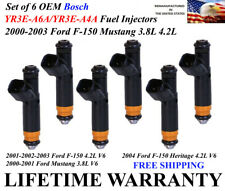 OEM Siemens Set of 6 Fuel Injectors For 2001-2002-2003 Ford F-150 4.2L V6