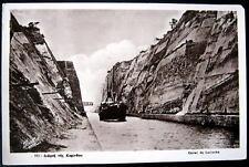 GREECE~1932 Corinth Canal~Cana de Corinthe~ RPPC