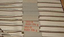 200 x Vitrohm 0R051 4W low ohm resistor 350-8-R051 5% VTM