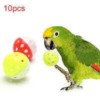 10pcs Rolling Bell Ball Pet Hollow Bird Toy For Parakeet Parrot Chew Cage Toys