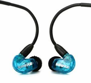 New Genuine SHURE SE215 Sound Isolating In Ear Pro Stereo Earphones SE 215 BLUE