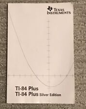 Ti-84 Plus And Ti-84 Silver Edition Getting Started Manual Guidebook And Cd
