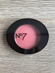 No7 Powder Blusher Peach Velvet Full Size 3g Hypo-Allergenic New
