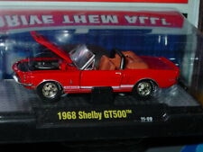 M2 MACHINES FORD 1968 68 SHELBY GT500 MUSTANG CONVERTIBLE -Red, MIP