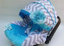 baby gray blue infant car seat cover canopy cover fit most infant car seat