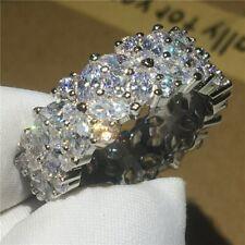 14K White Gold Finish 6.12ct D//VVS1 Radiant Sunburst Ring