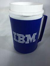 Vintage IBM Travel Mug Drink Coffee Aladdin Blue