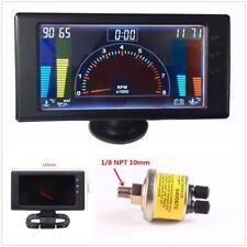 Multipurpose LCD Digital 6 in1 Auto Meter LED Oil Pressure Gauge Car Accessories