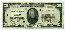 FR. 1870B 1929 $20 Federal Reserve Bank Note New York Brown Seal