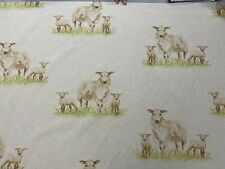 Sheep Country  linen/Cotton  Curtain/Craft/upholstery Fabric 140cm wide