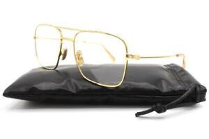 Celine CL50038U 50038U Eyeglasses Gold 032 Authentic 55mm
