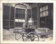 1920s Milkman Milk Dairy Delivery Street Hand Cart Cans Photo Photograph