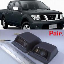 For Nissan D40 Navara Frontier Pickup 05-08 BLACK REAR LICENSE PLATE LIGHT PAIR