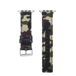 Mens Military Nylon Canvas Fabric For watch Band Strap for Apple Watch 1 2 3 4