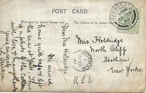 GB 1910 1/2d PPC of Wedding Cake with Harrogate & Hotham CDS's