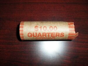 1967 ROLL of Washingon Quarters - Circulated - 40 COINS