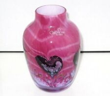 Ruby Caithness 'Cadenza' Glass Vase, By Colin Terris, Complete With Label.