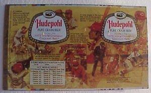 Hudepohl Beer Unused 1975 Cincinnati Reds World Series Champions team can flat!