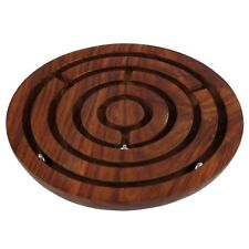 Nirvana-Class 6 Inch Handcrafted Wooden Labyrinth Ball Maze Puzzle Game & Decor