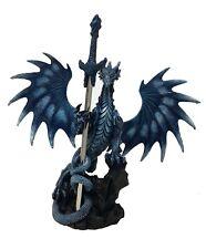 """Brieföffner """"Seablade"""" - Drache blau mit Schwert designed by R. Thompson"""
