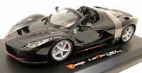 Burago 1/24 Scale Diecast - 18-26022 Ferrari LaFerrari Aperta Black