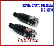 COPPIA SFIATI FORCELLA SHOWA NERI M5 P. 0.8 MOTO CROSS ENDURO OFF ROAD PIT BIKE