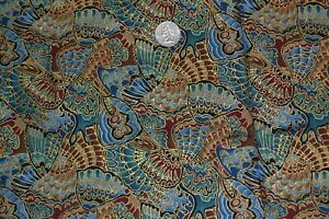 """Cotton quilting fabric, butterfly wing pattern, 42"""" x 3.2 yards"""