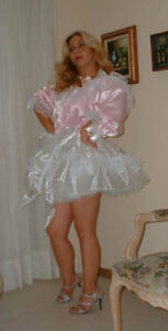 Neljen Vintage Style Sissy Baby Slip Dress - lots of Sissy Lace & 3/4 Sleeves