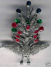 Gemstone Studded Silver Brooch Jewelry Artdeco Estate 5.32cts Rose Cut Diamond