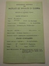 SCHEDA MILITARE REGIO ESERCITO GARESSIO 1° RGT ALPINI MEDAGLIA AL VALORE C10-212