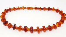 """Vintage Natural Baltic Butterscotch Beaded Necklace 16"""""""