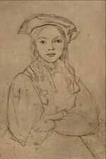 501038 Girl With Beret Jean Baptiste Camille Corot A4 Photo Print