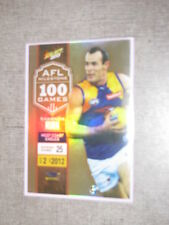 2013 AFL CHAMPIONS MILESTONE TRADING CARDS - SHANNON HURN 100 GAMES (MG2)