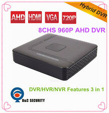 8 Channels HD 960P AHD Hybrid DVR HVR 3 in1 Video Recorder For AHD Camera IP Cam