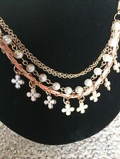 Leaf Clover Leather Rope Chain Pearl Bracelet for valentine gift clearance