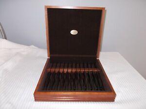 Cutco Dark Brown  12 Piece 1759 Table Knife - Wood Case Box - Nice