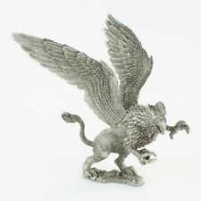 Rearing Griffin | Vintage Fantasy Pewter Figure by KRM | Cast in the USA