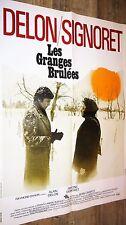 alain delon LES GRANGES BRULEES ! s signoret affiche cinema 1973