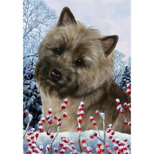 Winter House Flag - Brindle Cairn Terrier 15326