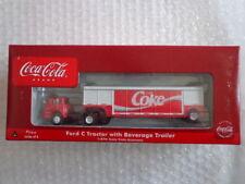 COCA COLA ATHEARN 1/87 SCALE FORD C CAB OVER TRACTOR W/ COKE TRAILER #3 OF 6
