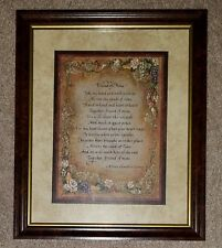 Nib Home Interiors Friend of Mine Framed Art Wall Picture Sonoma Roses