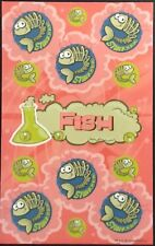 Dr. Stinky's Scratch & Sniff Stickers - Fish - Mint Condition!!