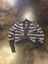 Brunello Cucinelli gray And Purple cashmere cardigan L