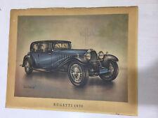 BUGATTI 1930 RARE VINTAGE PRINT MOTOR CAR VEHICLE automobiles
