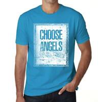Men's Vintage Tee Shirt Graphic T shirt Choose ANGELS Aqua