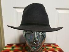 Vintage Ellis Chapman Western Hat Size  7 1/8 Waynes Bro Ms Black Grunge