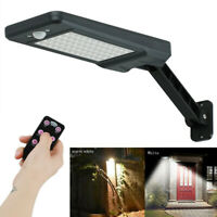 Solar Powered Motion Sensor 60 LEDs Yard Wall Lamp Floodlight Garage Lamp+Remote