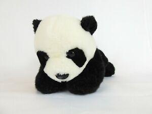 "BJ Toys Plush Panda Bear 12"" Vintage Black White"